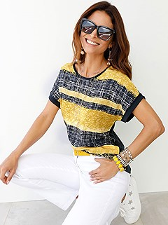 Striped Mix Top product image (398443.YLMU.001)