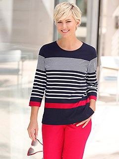 Nautical Stripe Mix Top product image (400251.NVST.1.1_WithBackground)