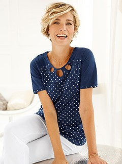 Cut Out Polka Dot Top product image (401534.NV.3.1_WithBackground)