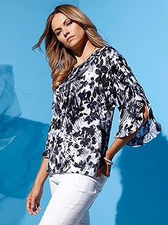 Ruffle Detail Floral Blouse product image (402139.WHPR.1)