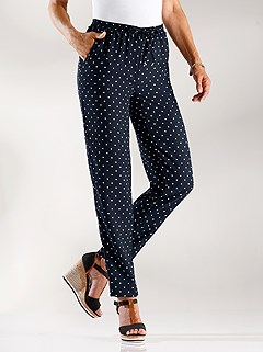 Polka Dot Drawstring Pants product image (402742.NVDT.3.1_WithBackground)