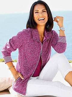 Knitted Fleece Cardigan product image (403031.FS.1.P)