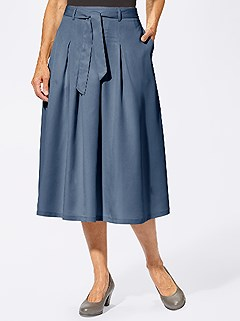 Flowy Belted Midi Skirt product image (403164.DEBL.3.1_WithBackground)