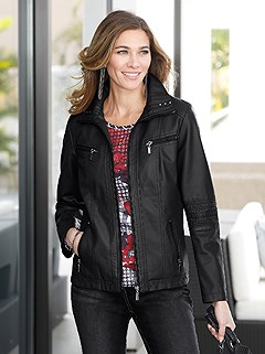 Chic Faux Leather Jacket product image (405298.BK.1.4_WithBackground)