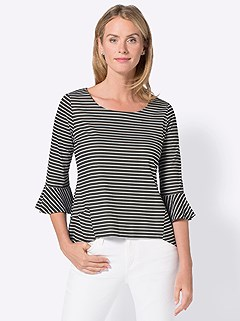 Patterned 3/4 Sleeve Top product image (406144.BWST.3.2)