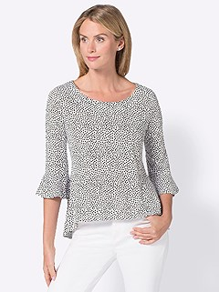 Patterned 3/4 Sleeve Top product image (406144.WHDT.3.2)