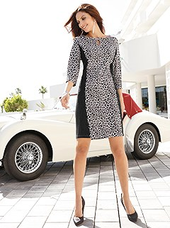 Animal Print Jersey Dress product image (406383.CABK.2.421_WithBackground)