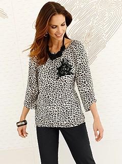Embellished Leopard Blouse product image (406394.CABK.1.2_WithBackground)