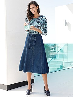 Denim Midi Skirt product image (406405.GRMU.2.2)