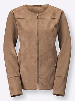 Faux Suede Zip Up Jacket product image (406785.CG.3.1)