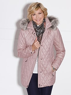 Quilted Faux Fur Trim Jacket product image (406851.OLRS.2.1_WithBackground)