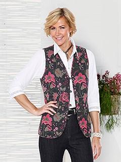 Floral Print Vest product image (406902.RDPA.3.1_P)