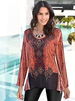 Studded Batik Print Top product image (406944.RUMU.2.2)