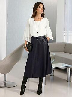 Mock Leather Skirt product image (407007.BK.1.2P)