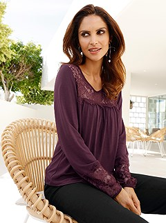Flowy Long Sleeve Top product image (407026.AB.2.2)