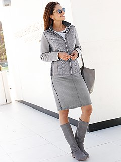 Slim Denim Look Skirt product image (407087.GY.1.3)