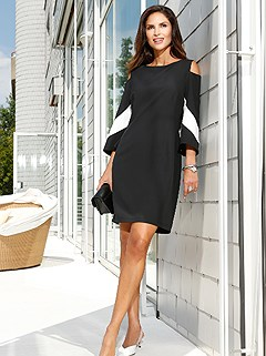 Cold Shoulder Dress product image (407499.BKWH.1)