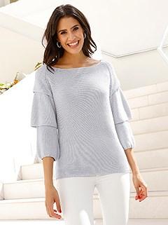 Ruffle Sleeve Sweater product image (407738.SVGY.2)