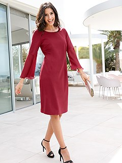 Bell Sleeve Shift Dress product image (407818.RD.1)