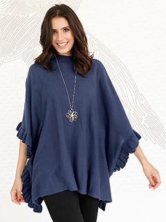 Side Ruffle Poncho product image (407958.BL.1)