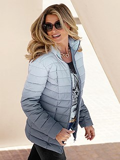 Ombre Quilted Jacket product image (408760.GY.2.2)