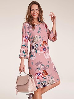Bell Sleeve Floral Mix Dress product image (409299.RSPR.2.2)