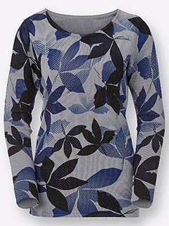 Leaf Print Sweater product image (409635.GYPR.1.47_WithBackground)