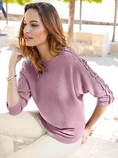 Embellished Sleeve Sweater product image (409786.RS.2.17_WithBackground)