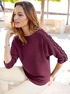 Embellished Sleeve Sweater product image (409786.WI.1.16_WithBackground)