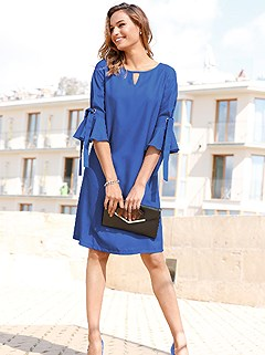3/4 Bell Sleeve Dress product image (409803.RY.1.1_WithBackground)