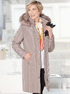 Long Faux Fur Trim Jacket product image (409815.TP.2.1_WithBackground)