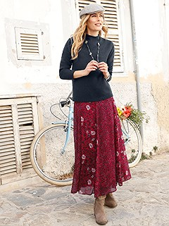 Flowy Floral Print Maxi Skirt product image (410062.WIMU.1.8_WithBackground)