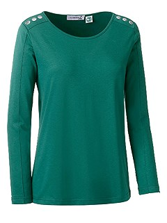 Embellished Long Sleeve Top product image (410089.GR.1.11_Ghost)