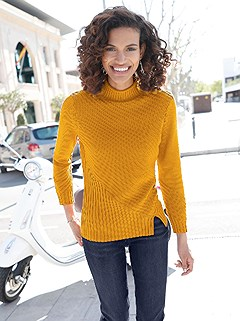 Asymmetrical Knit Pattern Sweater product image (410257.MUST.2.14_WithBackground)