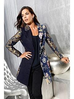 Tapestry Print Long Jacket product image (411124.BLPA.1.79_Raw)