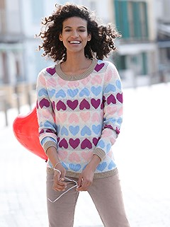 Heart Pattern Sweater product image (411143.RSPA.3.8_WithBackground)