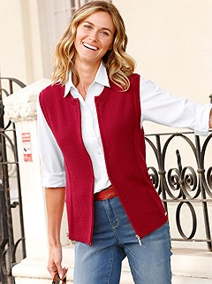 Zip Up Sweater Vest product image (411306.RD.1.P)