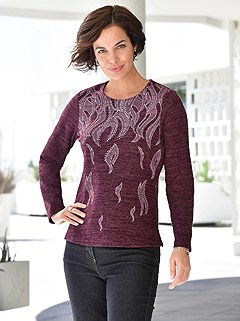 Embellished Jacquard Design Top product image (412123.BBMO.1.1_WithBackground)