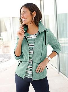 Hem Detail Fleece Cardigan product image (412525.MTMO.1.M)