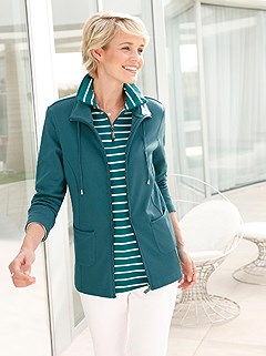 Collared Zip Up Cardigan product image (412691.PE.1.1_WithBackground)
