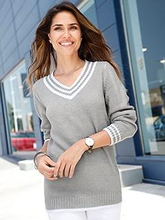 Varsity Stripe Sweater product image (416365.SL.3-S)