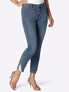 Embellished Hem 5-Pocket Jeans product image (416739.DEBL.4.1_WithBackground)
