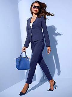 Wavy Cuff Capri Dress Pants product image (416906.NV.1.2_WithBackground)