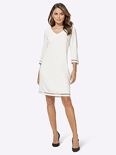 V-Neck Midi Dress product image (416910.WH.4.1_WithBackground)