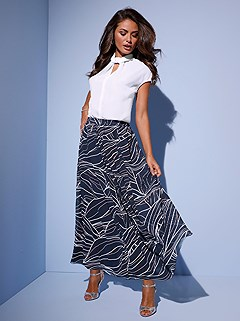 Graphic Print Maxi Skirt product image (417031.NVMU.1.1_WithBackground)