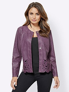 Lace Border Cut-Out Jacket product image (417038.BY.4.1_WithBackground)