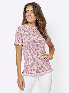 Fine Knit Ajour Sweater product image (417105.RS.4.1_WithBackground)