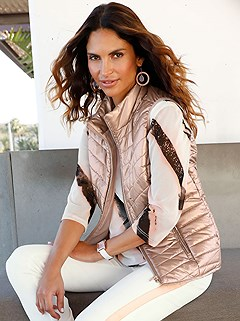 Shimmering Quilted Vest product image (417181.POWD)