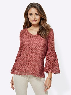Sheer Lace Patterned Blouse product image (417202.MELO.4.1_WithBackground)