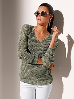 Long Sleeve Knit Sweater product image (417405.GR.1.1_WithBackground)